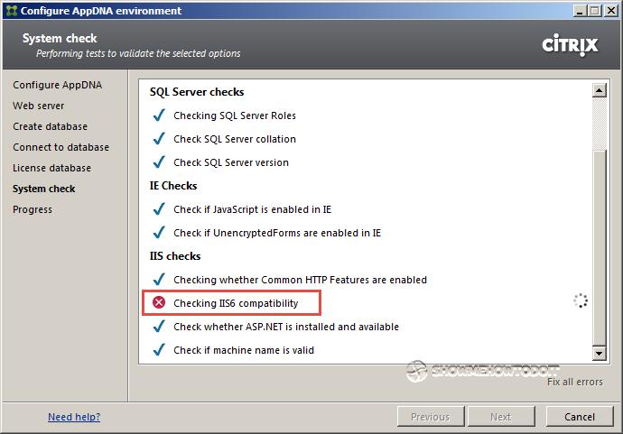 AppDNA 7 System Check