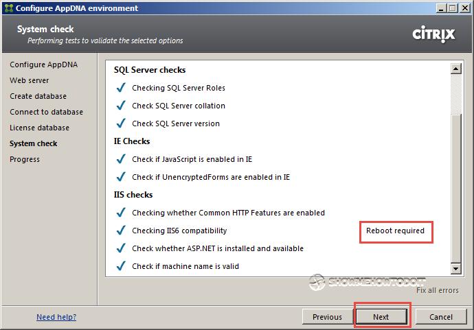 AppDNA 7 System Check Fix
