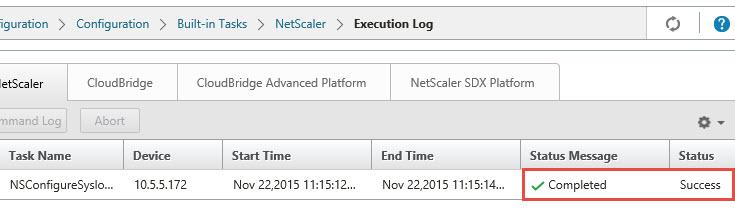 Citrix Command Center - NetScaler Syslog