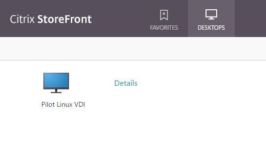 Citrix Linux VDA Storefront