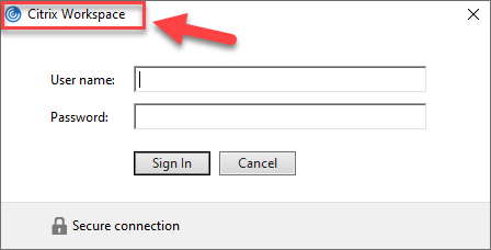 Customize Citrix Workspace App default login prompt